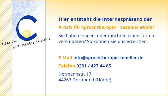 Hier entsteht die Internetpräsenz der Sprachtherapie Möller in Dortmund (Hörde).